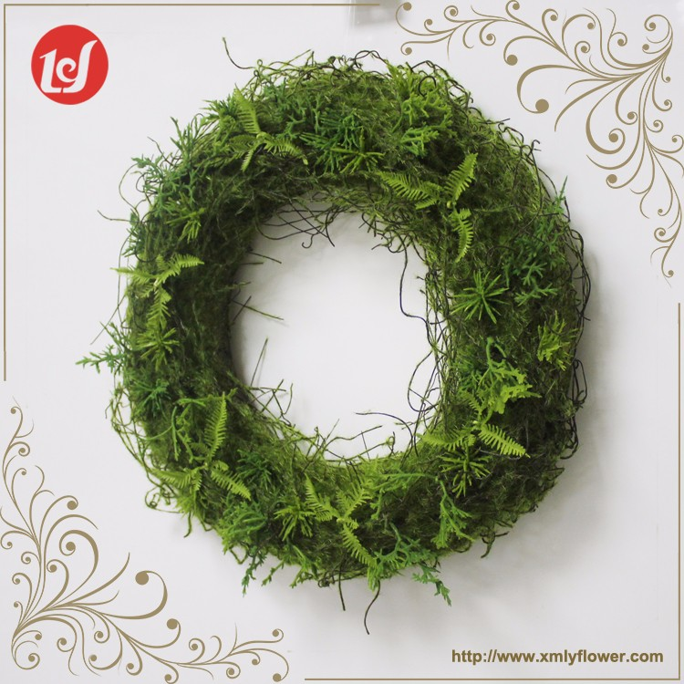 SFB3938-C6008 Indoor Christmas Xams Bulk Artificial Decorative Flowers Wreaths Hanging Faux Leaves Garland