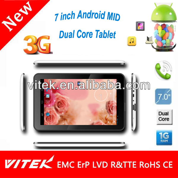 7 inch Android Pocket 3G Tab Smallest Tablet PC