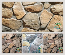 Light weight fake stones for gardens