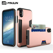 2 in1 rugged armor 2 - credit card holder case for iphone x fashion case,ipx wallet case