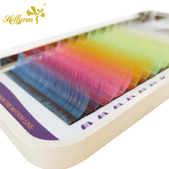 Fashion UV Colorful Eyelashes Private Label Eyelash Extension