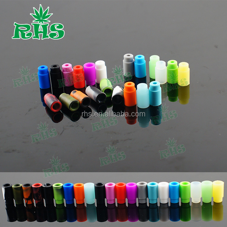 Disposable drip tips Individually Wrapped Silicone Rubber Test Tester Drip Tips