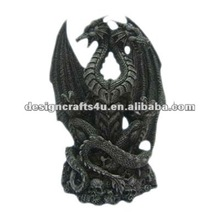 decorative polyresin dragon with wing statue