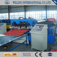 Colour Coated Step Roof Tile Making Machine