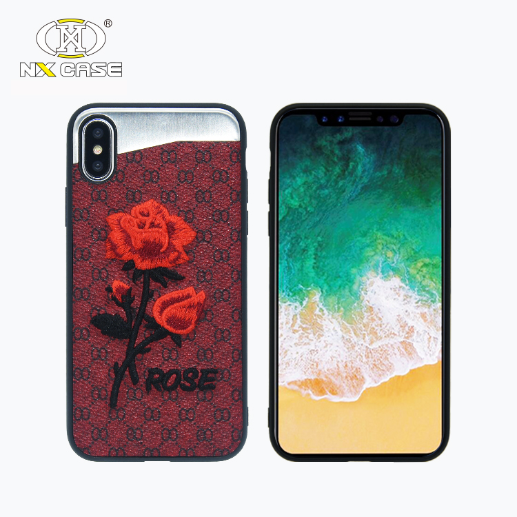 Customize color and logo hard pc back cover for iphone x 10 pu <strong>leather</strong> slim phone case