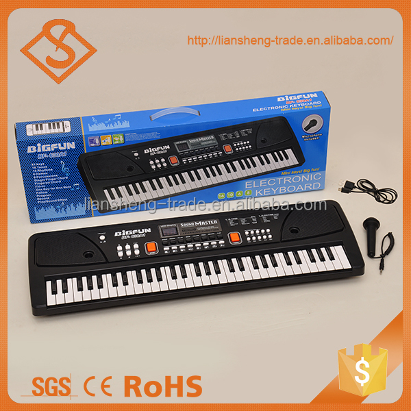 High quality education musical instruments electronic 61-key keyboard and microphone
