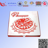 custom color printed food packaging pizza box