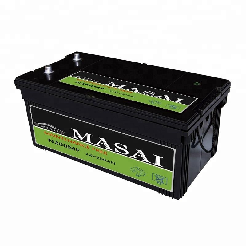Rechargeable Maintenance Free Car Battery / Automotive Battery 12V 200ah MF N200