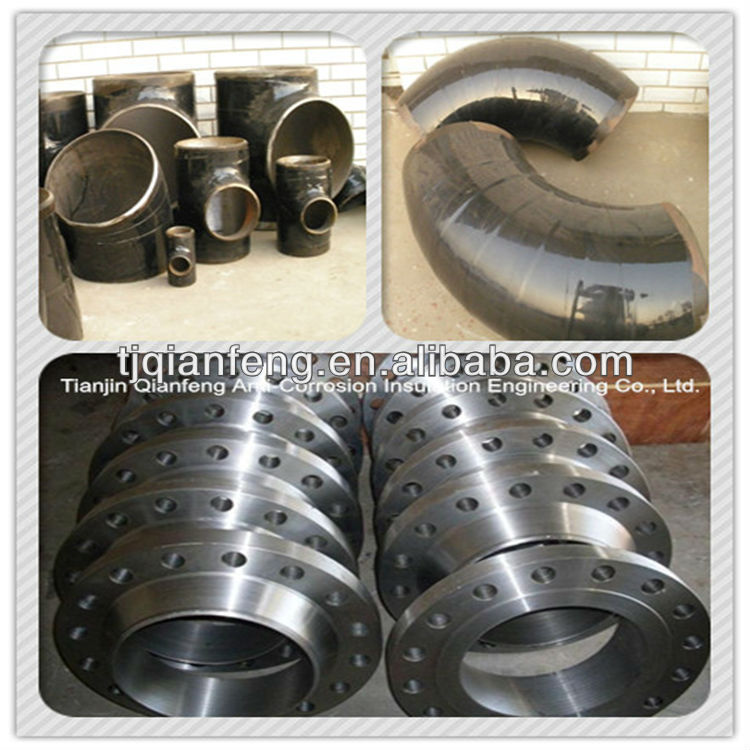 Tianjin manufacture pipe fittings flange tee elbow bend