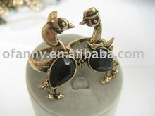 NEW DESIGH DOUBLE CHICKEN ANIMAL FINGER RING JEWELRY