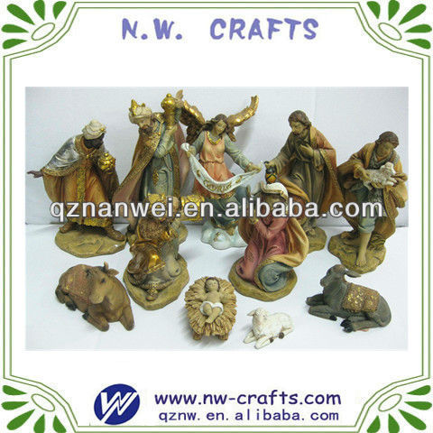 Polyresin religious nativity sets crafts