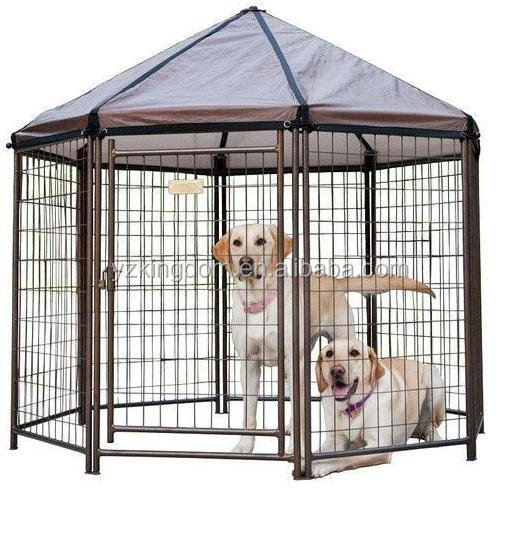 Outside dog crate with cover