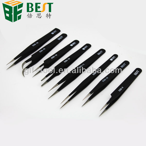 curved straight slanted point angled chip tweezer for mobile phone/lap top/computer repair