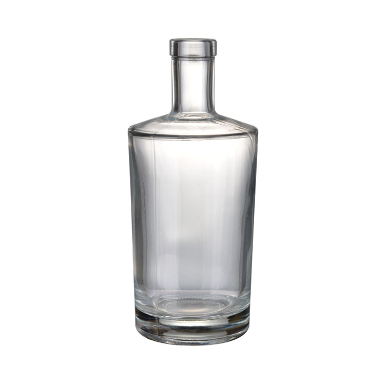 Clear Special Shaped Customized Glass Whiskey Bottle Size