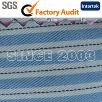polyester cotton stripe design suiting and shirting fabric