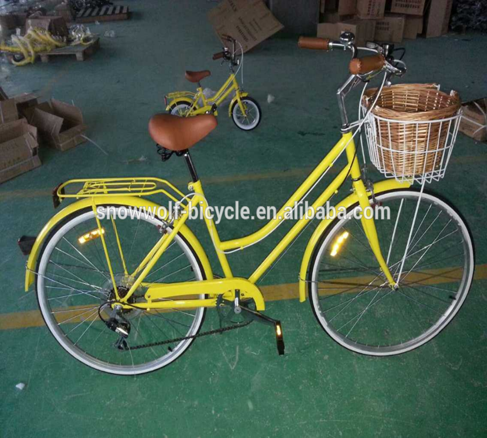 "Unisex 28"" beach cruiser style city bike for adult/cheap steel city bicycle 7 speed"