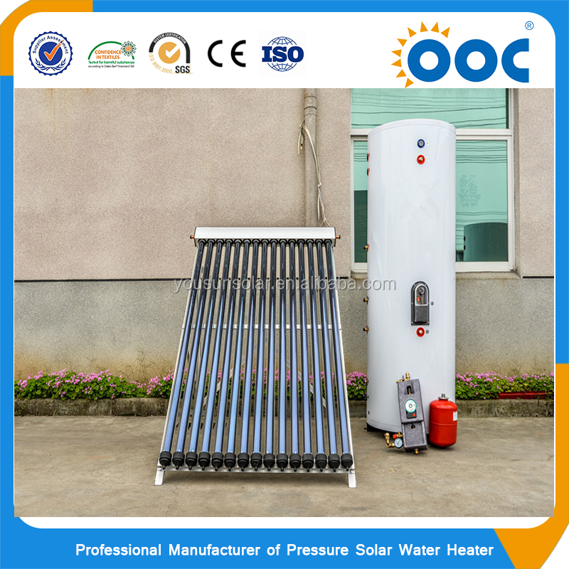 Hot Sales SOLAR KEYMARK/CE/SRCC approved Premium Luxury high pressure split Solar energy water heater