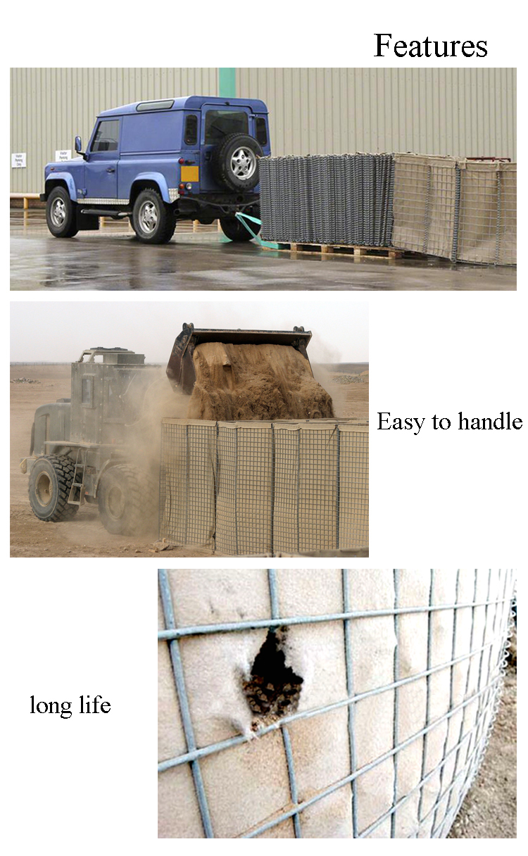 Hot dip galvanized welded wire hesco barriers / hesco bag