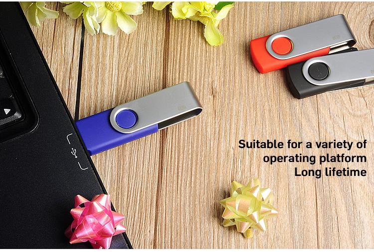 Cheap Real Capacity 360 rotation metal usb flash drive