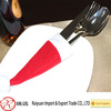 Table decoration red hat shape felt christmas knife and fork bag for cutlery from china manufacture