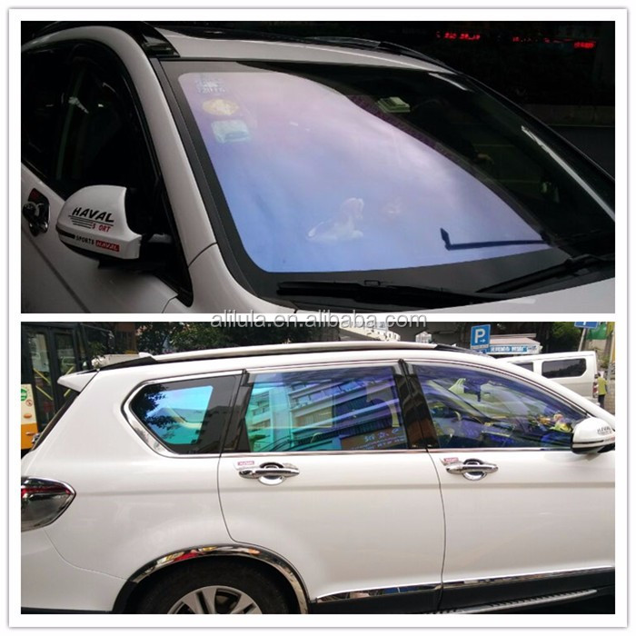 1.52*30m 75%-80% reflective clear chameleon tinting car window film