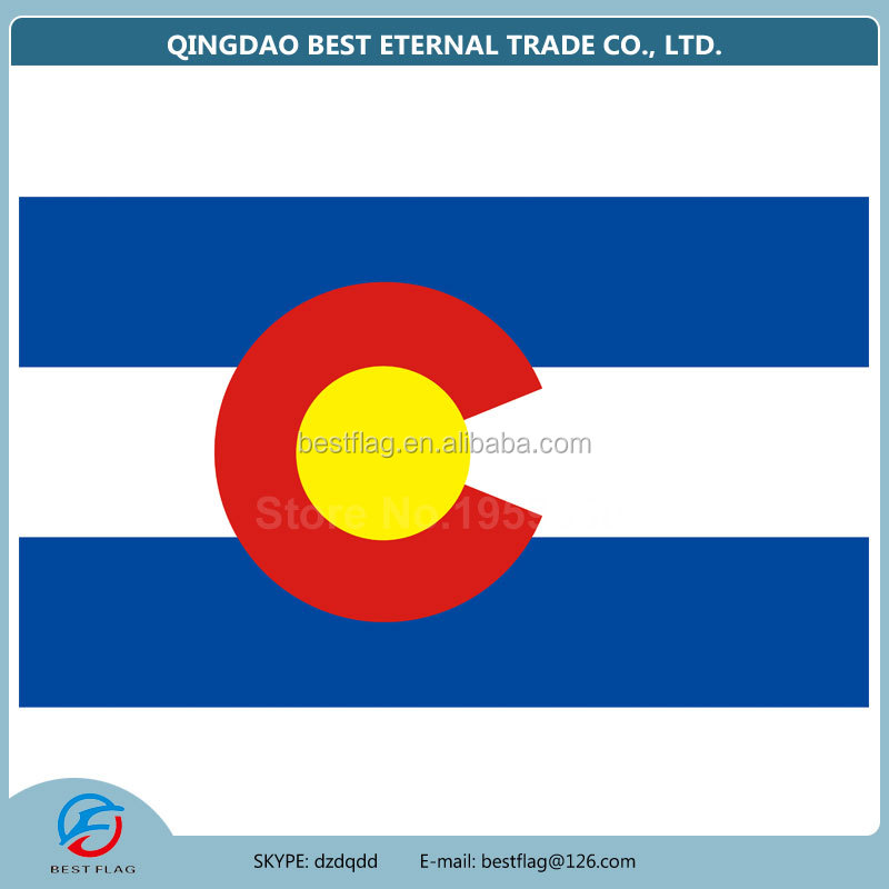 Best Flag - Best Quality American Colorado State CO US Promotion Flag with Nylon Polyester colorado American Flag