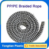 White high strength solid braided rope for yacht