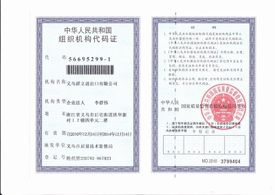 The People's Republic of China the organizational structure of card of code