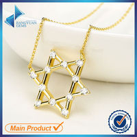 2015 fashionable sterling silver five-pointed star necklace jewelry