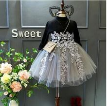 Wholesale Boutique Children Spring New Fashion Kids <strong>Girl's</strong> Long Sleeves Princess <strong>Dress</strong>