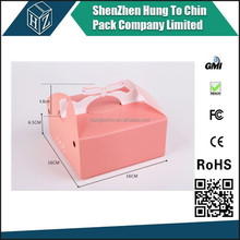 China experienced cupcake packaging use offset printing art paper corrugated paper portable paper cake box