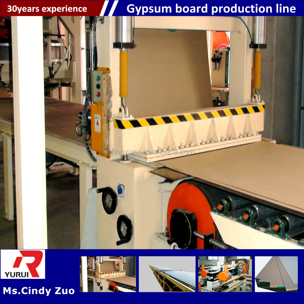 gypsum board automatic cutting production line/gypsum board machine for producing paper faced