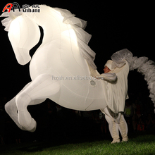 White Inflatable Horse Costume for Advertising