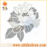 flower heat transfer studs designs iron on lady garment decorations