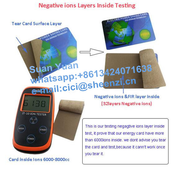 OEM high quality energy saver card for saving electricity cost,7500cc-8000cc ions powerful Electric Power Saving card