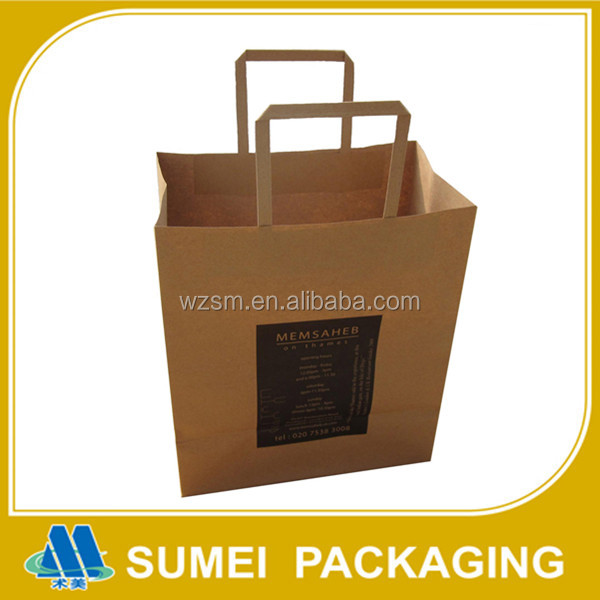 Factory make different size cookies packing kraft paper bag