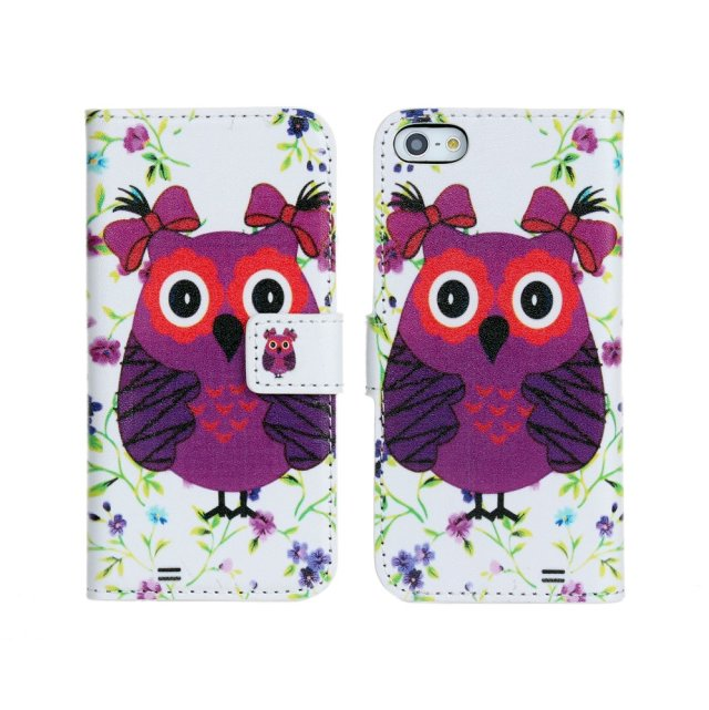 For iPhone 5 5s cute owl leather wallet case,For iPhone 5 5s animail PU leather case!