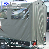 pvc tarpaulin stand for tent and side curtain
