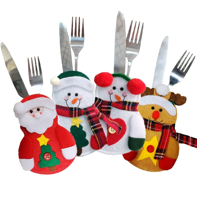 Christmas knife and fork pouch Christmas <strong>Decoration</strong>,Christmas Ornament,Christmas Gift for Children