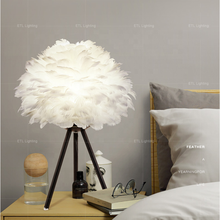 China supplier vintage decorate bed side lamp Iron feather table lamp ETL32208