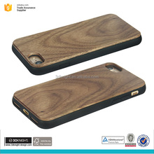 PC TPU walnut wooden mobile phone case for iphone 7 7plus