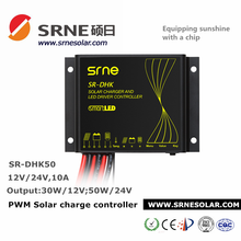 shenzhen new energy sr-dhk50 10a 12v 24v timer and dimming solar lighting controller