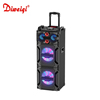 Professional dj trolley big power portable speaker with led light