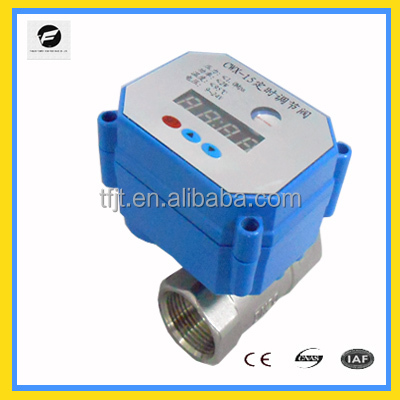 "Timer 2-way DC9-24V 3/4"" Stainless Steel 304 motorized ball valve for auto control irrigation -draining system"