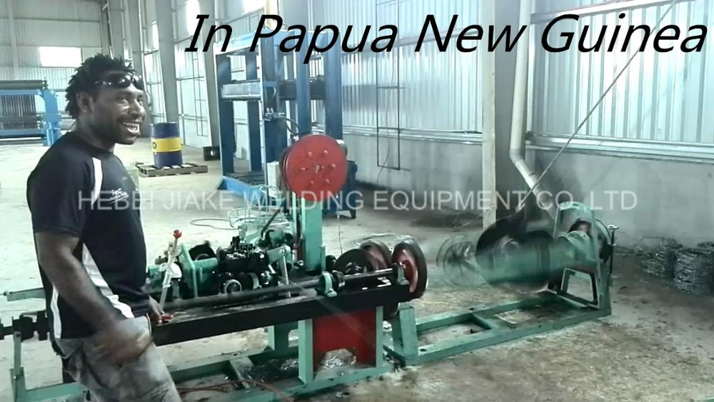 positive and negative twisted barbed wire making machine