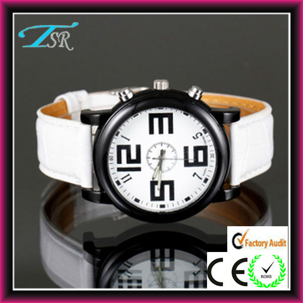 New White colour watches white ladies watches big face