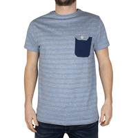New design classic blue patten bulk striped t shirts for man