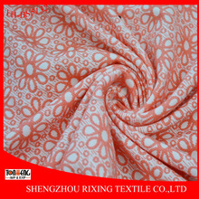 Shaoxing Manufacture Flower design Jacquard Polyester and Spandex Fabric
