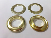 Gold metal grommets for curtain eyelets and washers