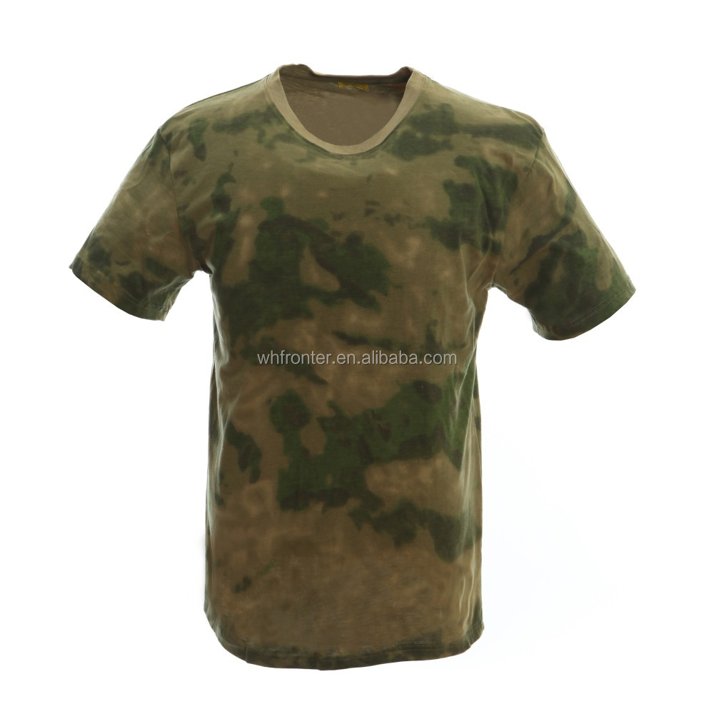 Anti-Pilling cotton t-shirt camouflage wholesale military t shirt for men